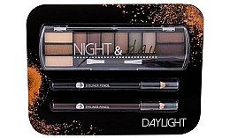 Kup Zestaw - Cosmetic 2K Night & Day Daylight (eye/sh/8,16g + eye/pen/2x0,6g)