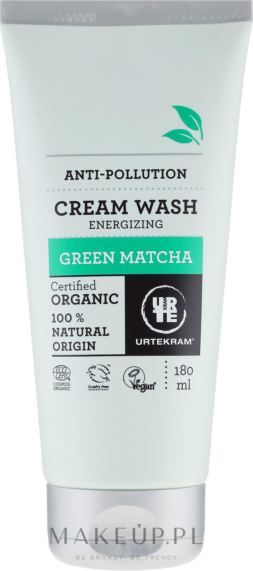 Organiczny oczyszczający krem pod prysznic Zielona matcha - Urtekram Green Matcha Cream Wash — фото 180 ml