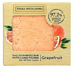 Kup Twardy szampon i odżywka do włosów 2 w 1, grejpfrut - Stara Mydlarnia Grapefruit 2in1 Shampoo Bar