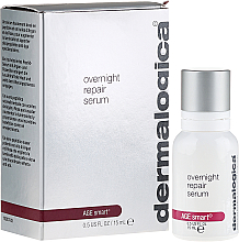 Kup PRZECENA! Silnie regenerujące serum na noc do skóry dojrzałej i przedwcześnie starzejącej się - Dermalogica Age Smart Overnight Repair Serum *