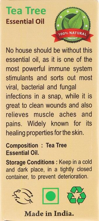 Olejek z drzewa herbacianego - Sattva Ayurveda Aromatherapy Tea Tree Essential Oil — фото N3