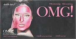 Kup Zestaw nawilżających maseczek detoksykujących do twarzy - Double Dare OMG! Platinum Hot Pink Facial Mask Kit