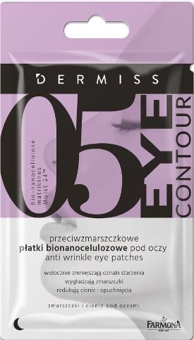 Przeciwzmarszczkowe płatki bionanocelulozowe pod oczy - Farmona Dermiss 05 Eye Contour — фото N1