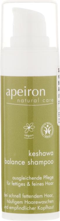 Nawilżający szampon - Apeiron Keshawa Balance Shampoo (miniprodukt) — фото N1