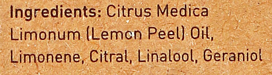 Olejek cytrynowy - Apivita Aromatherapy Organic Lemon Oil — фото N4