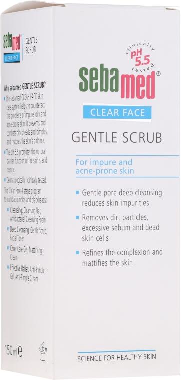 Delikatny peeling do twarzy - Sebamed Clear Face Gentle Scrub — фото N1