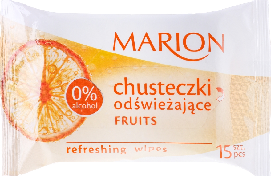 Chusteczki odświeżające Fruits, 15 szt. - Marion