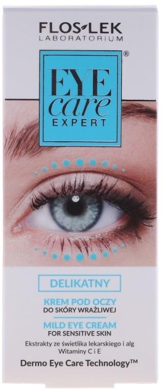 Delikatny krem pod oczy do skóry wrażliwej - Floslek Eye Care Mild Eye Cream For Sensitive Skin — фото N2