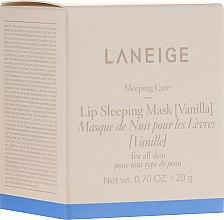 Kup Intensywnie regenerująca maska nocna do ust o zapachu wanilii - Laneige Sleeping Care Lip Sleeping Mask Vanilla