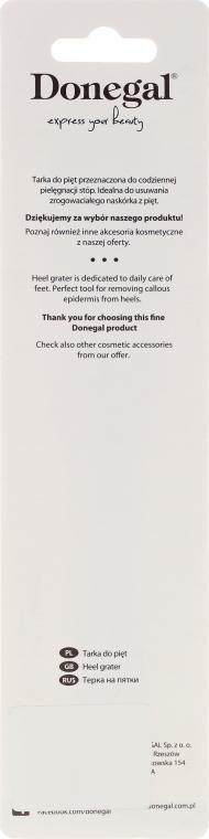 Tarka do pięt 1034, metalowa, jednostronna, czarna - Donegal 1-sided Pedicure File — фото N3