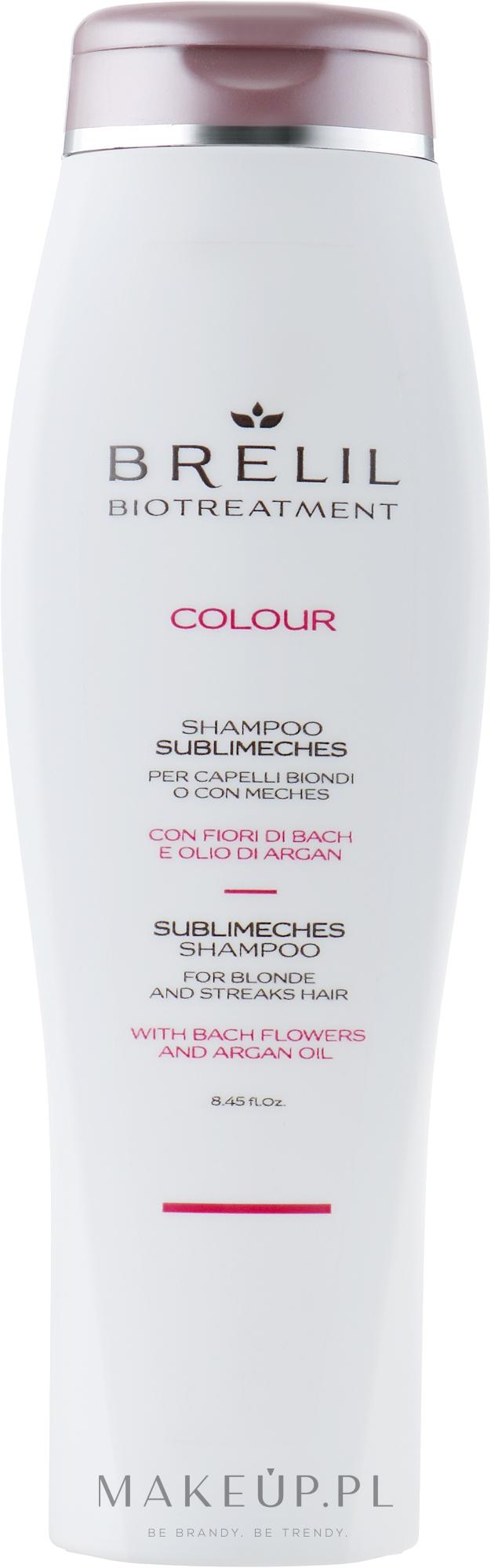 Szampon do neutralizacji żółtych tonów włosów blond i siwych - Brelil Bio Treatment Colour Sublimeches Shampoo For Blonde And Streaks Hair — фото 250 ml
