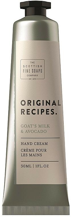 Krem do rąk - Scottish Fine Soaps Original Recipes Goat's Milk & Avocado Hand Cream — фото N1