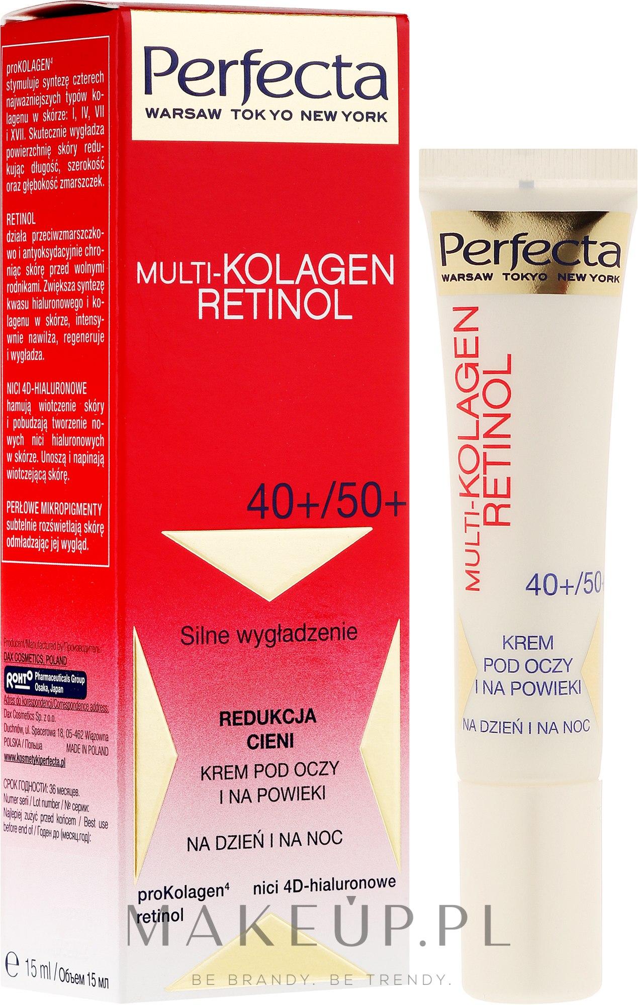 Krem pod oczy i na powieki Redukcja cieni 40+/50+ - Perfecta Multi-Collagen Retinol — фото 15 ml