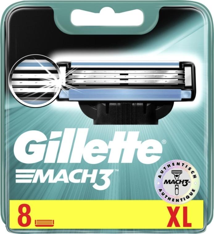 Wymienne wkłady do maszynki, 8 szt. - Gillette Mach3 — фото N3