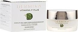 Kup Nawilżający krem przeciwzmarszczkowy Ukojenie skóry i naczynek - Dermika Vitamina P Plus Face Cream
