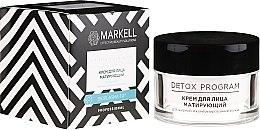Kup Matujący krem do twarzy do skóry tłustej i mieszanej - Markell Cosmetics Detox Program Face Cream