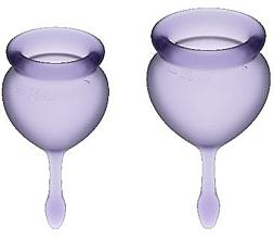 Kup Zestaw kubeczków menstruacyjnych - Satisfyer Feel Good Menstrual Cups Lila