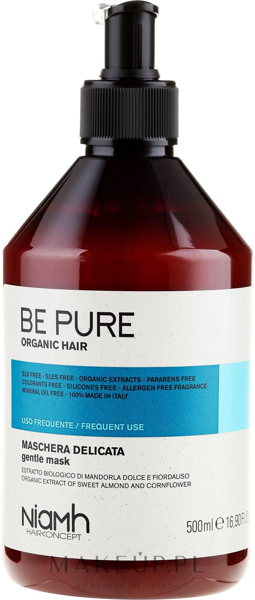 Delikatna maska do włosów do częstego stosowania - Niamh Hairconcept Be Pure Gentle Mask — фото 500 ml