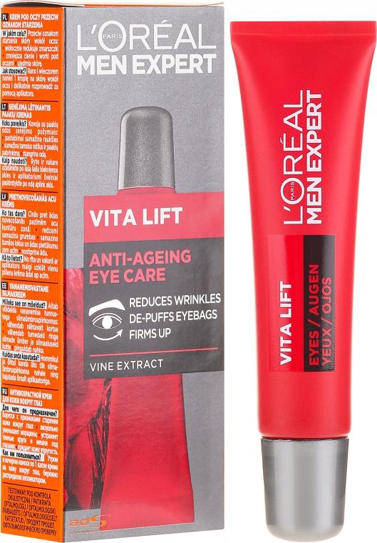 Krem pod oczy dla mężczyzn przeciw oznakom starzenia - L'Oreal Paris Men Expert Vita Lift Eye Cream