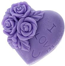 """Kup Naturalne mydło ręcznie robione o zapachu lawendowym Serduszko """"I Love U"""" - LaQ Happy Soaps"""