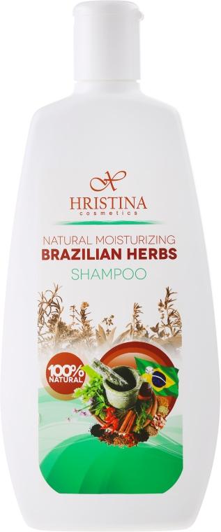 Naturalny szampon nawilżający do włosów Brazylijskie zioła - Hristina Cosmetics Brazilian Herbs Shampoo