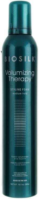 Pianka zwiększająca objętość włosów - BioSilk Volumizing Therapy Styling Foam