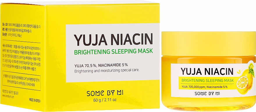 Rozjaśniająca maska do twarzy na noc - Some By Mi Yuja Niacin Brightening Sleeping — фото N1