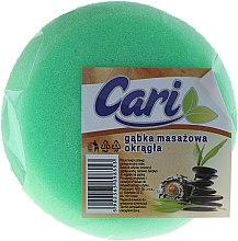 Kup Okrągła masażowa gąbka do kąpieli, 98553, zielono-biała - Cari