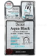 Kup Trzystopniowa maska na twarz - Bergamo 3Step Black Aqua Mask Pack
