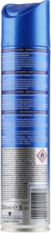 Ekstramocny lakier do włosów - Schwarzkopf Taft Ultra Control Hairspray — фото N2