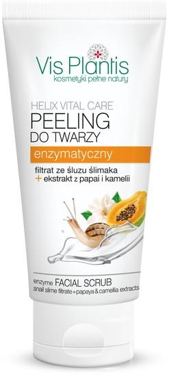 Peeling enzymatyczny do twarzy z filtratem ze śluzu ślimaka i ekstraktami z papai i kamelii - Vis Plantis Helix Vital Care