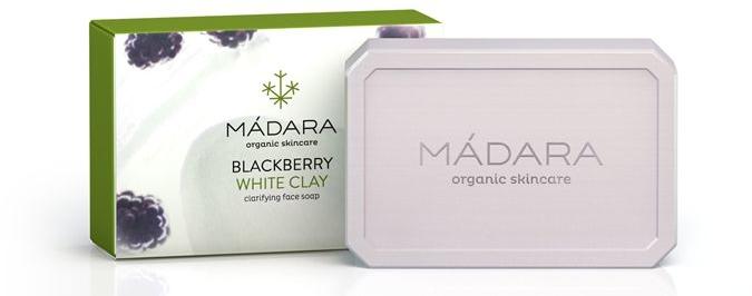 Mydło kosmetyczne do twarzy Jeżyna i biała glinka - Madara Cosmetics Blackberry and White Clay Soap — фото N1