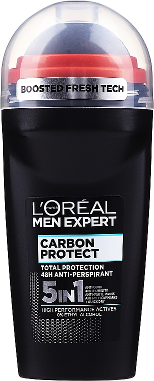 Antyperspirant w kulce - L'Oreal Paris Men Expert Carbon Protect Anti-Perspirant Intense Ice Deo Roll-On
