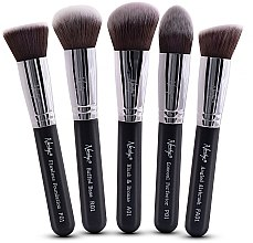 Kup Zestaw pędzli do makijażu - Nanshy Face Brush Set Black (brush x 5)