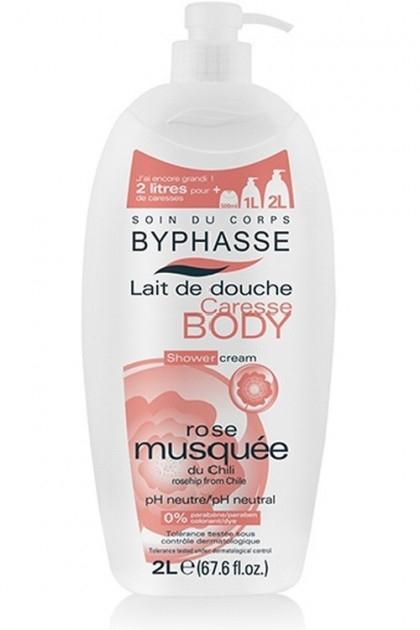 Mleczko pod prysznic Róża - Byphasse Caresse Shower Cream