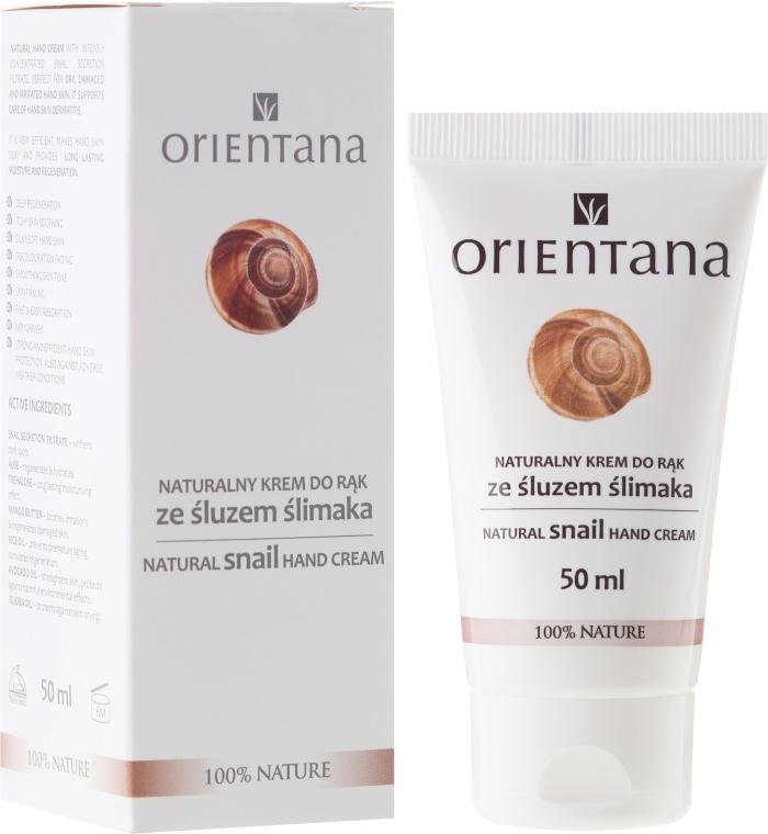 Naturalny krem do rąk ze śluzem ślimaka - Orientana