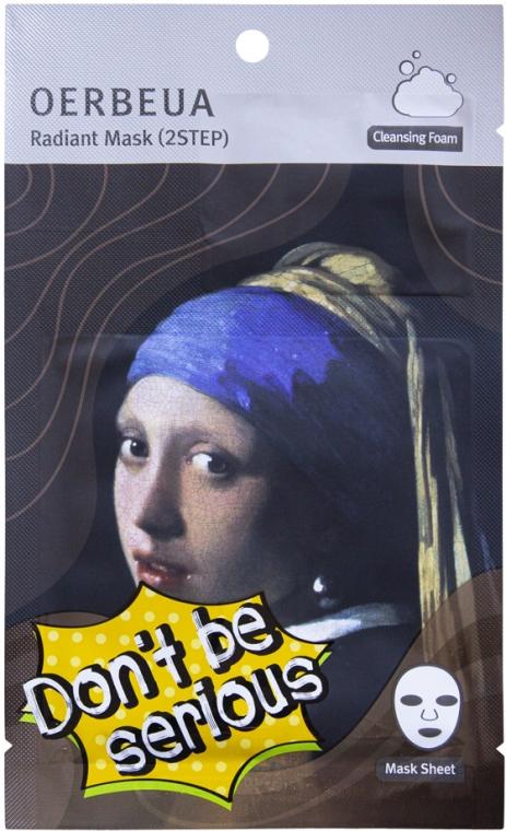 2-stopniowy system pielęgnacji twarzy - Oerbeua Don't Be So Serious Mask Shee — фото N1
