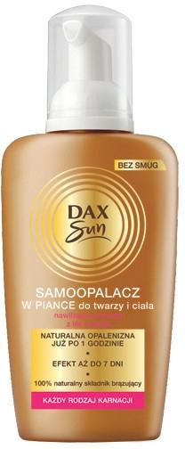 Samoopalacz w piance do twarzy i ciała - Dax Sun Self Tanning Foam — фото N1