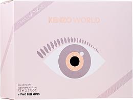 Kup PRZECENA! Kenzo World Eau de Toilette - Zestaw (edt 75 ml + b/lot 75 ml + pouch) *