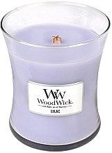 Świeca zapachowa w szkle - WoodWick Hourglass Candle Lilac — фото N1