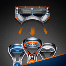 Wymienne wkłady do maszynki, 2 szt. - Gillette Fusion Power — фото N6