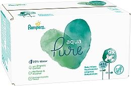Kup Chusteczki nawilżane dla niemowląt, 9 x 48 szt. - Pampers Aqua Pure Wipes