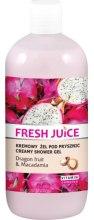 Kremowy żel pod prysznic Smoczy owoc i makadamia - Fresh Juice Energy Mix Dragon Fruit & Macadamia — фото N3