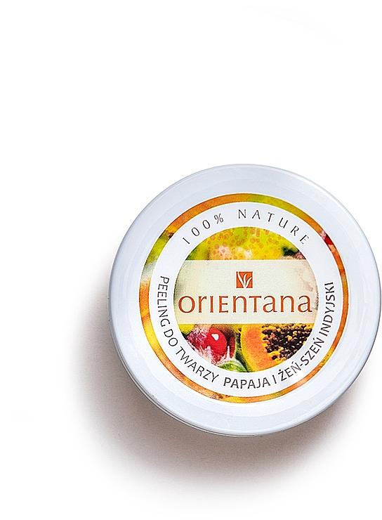 Naturalny kremowy peeling do twarzy Papaya i żeń-szeń indyjski - Orientana