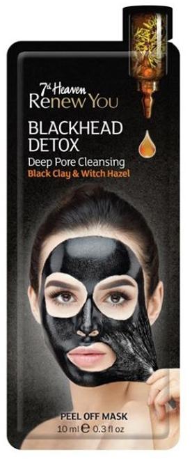 Maska do twarzy głęboko oczyszczająca pory Czarna glinka i oczar wirginijski - 7th Heaven Renew You Blackhead Detox Peel Off Mask — фото N1