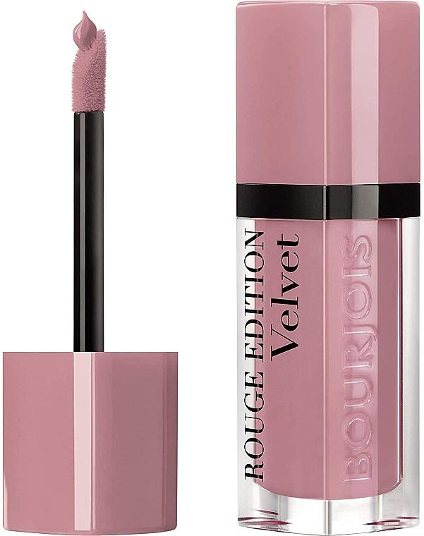 Zestaw - Bourjois Rouge Edition Velvet Lipstick Dont Pink Of It (lipstick/7.7ml + lip/pencil/1.14g) — фото N2