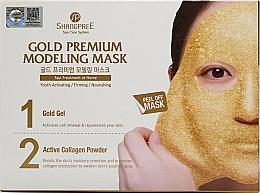 Kup Złota maska ujędrniająca do twarzy - Shangpree Gold Premium Plus Modeling Mask (gel 5 x 50 g + powder 5 x 4,5 g)
