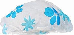 Kup Czepek pod prysznic, 9298, biały w niebieskie kwiaty - Donegal Shower Cap
