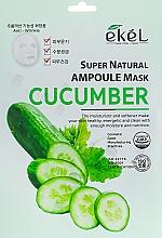 Kup Maska na tkaninie do twarzy z ekstraktem z ogórka - Ekel Super Natural Ampoule Mask Cucumber