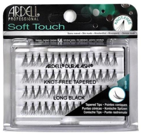 Kępki rzęs - Ardell Soft Touch Knot Free Long Black